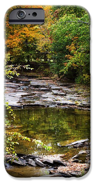 Fall Scenes iPhone Cases - Fall Creek iPhone Case by Christina Rollo