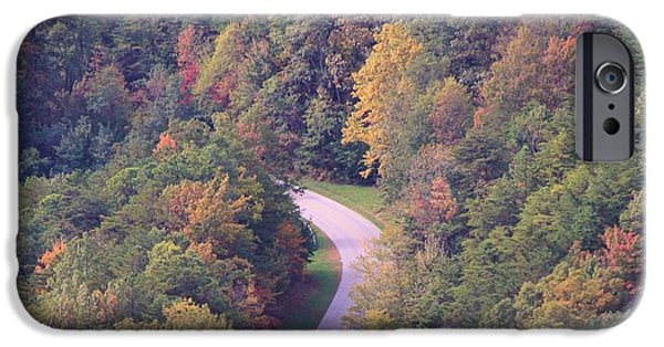 Pleasure iPhone Cases - Fall Drive In The Smokies iPhone Case by Dan Sproul