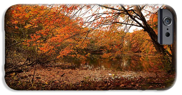 Autumn In New England iPhone Cases - Fall Escape iPhone Case by Lourry Legarde