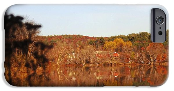 Androscoggin iPhone Cases - Fall Farm Landscape iPhone Case by Mike Breau
