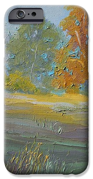 Fall Field iPhone Case by Dwayne Gresham