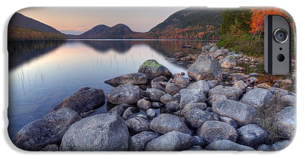 Maine iPhone Cases - Fall Flames iPhone Case by Marco Crupi
