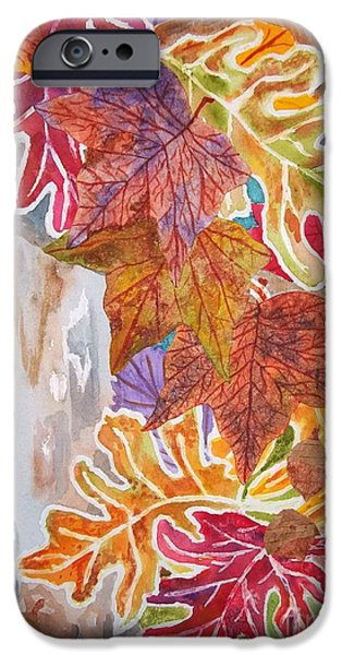 Fall iPhone Cases - Fall Flurry iPhone Case by Ellen Levinson