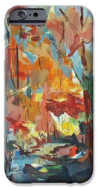 Creek iPhone Cases - Fall From My Window iPhone Case by Betty Pieper
