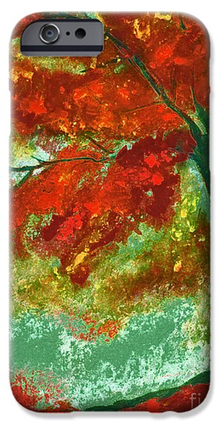 Jrr Pastels iPhone Cases - Fall Impression by jrr iPhone Case by First Star Art