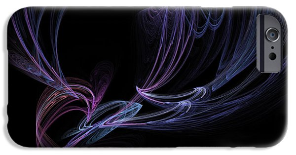 Modern Abstract iPhone Cases - Fall in Love fine fractal art iPhone Case by Georgeta  Blanaru