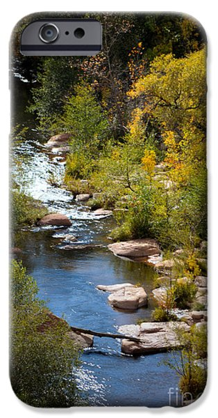 Sedona iPhone Cases - Fall in the Mountains iPhone Case by Deb Halloran