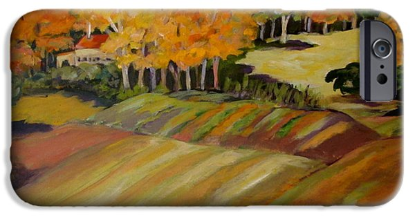 Fall Ceramics iPhone Cases - Fall in Vermont iPhone Case by Carol Keiser