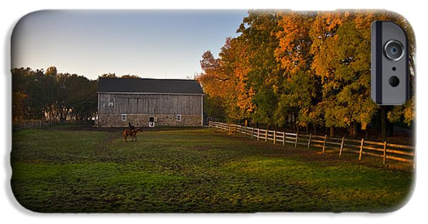Barns iPhone Cases - Fall in Wisconsin iPhone Case by Jeff Klingler