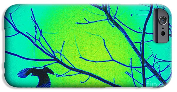 Stellar iPhone Cases - Fall Into Flight - in blue iPhone Case by Teresa A Lang