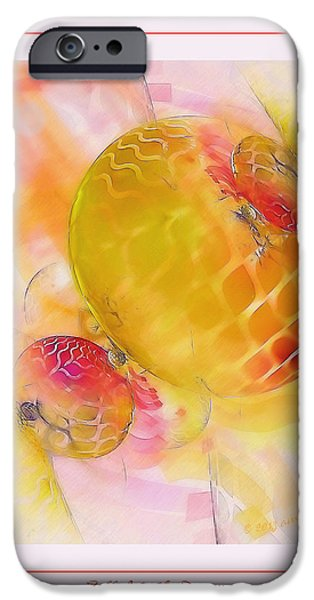 Digital Fine Pastels iPhone Cases - Fall Into the Dream iPhone Case by Gayle Odsather