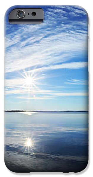 Fall Morning at Meddybemps Panorama iPhone Case by Bill Caldwell -        ABeautifulSky Photography