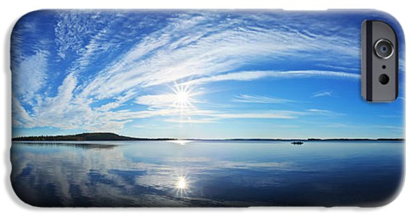 Downeast iPhone Cases - Fall Morning at Meddybemps Panorama iPhone Case by Bill Caldwell -        ABeautifulSky Photography