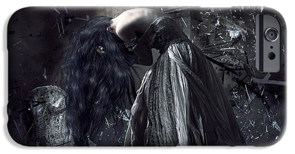 Conway iPhone Cases - Fall of the house of Usher iPhone Case by Shanina Conway