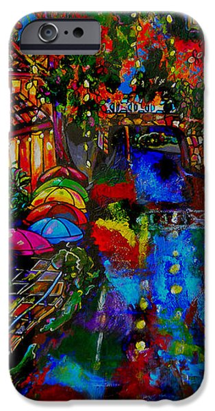Fall on the Riverwalk iPhone Case by Patti Schermerhorn