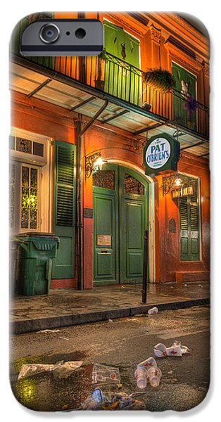 French Quarter iPhone Cases - Fall-out from Pat OBriens iPhone Case by Tim Stanley