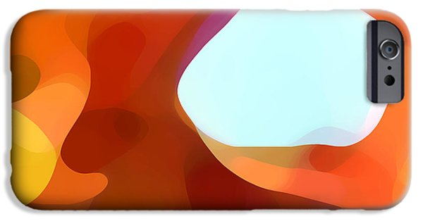 Abstract Digital iPhone Cases - Fall Passage iPhone Case by Amy Vangsgard
