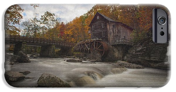 Grist Mill iPhone Cases - Fall picture of Grist Mill from across Glade Creek iPhone Case by Dan Friend