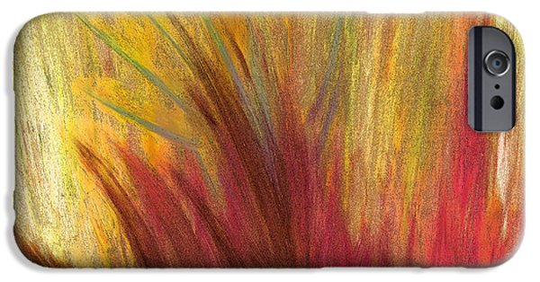 Abstract Digital Pastels iPhone Cases - Fall Prairie Grass by jrr iPhone Case by First Star Art