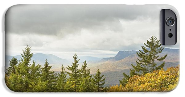 Maine Mountains iPhone Cases - Fall Rainstorms in Mount Blue State Park Weld Maine iPhone Case by Keith Webber Jr