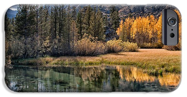 River Photographs iPhone Cases - Fall Reflections iPhone Case by Cat Connor