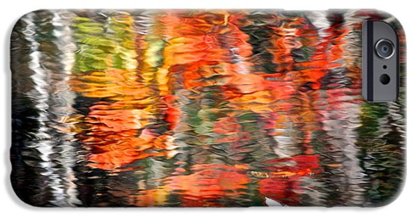 Willow Lake iPhone Cases - Fall Reflections iPhone Case by Frozen in Time Fine Art Photography