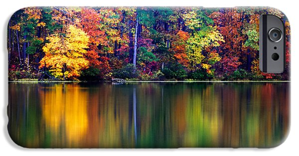 Arkansas iPhone Cases - Fall Reflections iPhone Case by Tony  Colvin