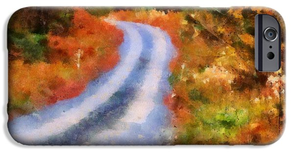 Colors Of Autumn iPhone Cases - Fall Road To Paradise iPhone Case by Dan Sproul