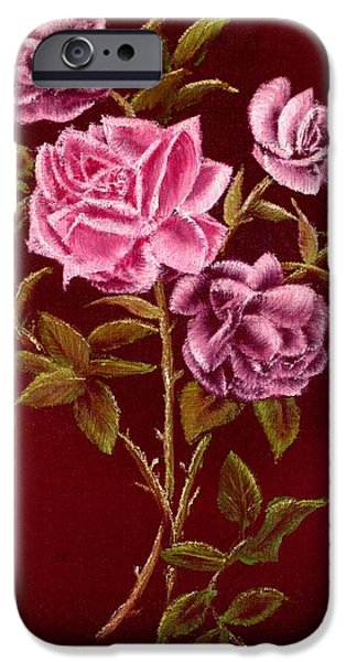 Window Of Life iPhone Cases - Fall Roses iPhone Case by Ronald Chambers