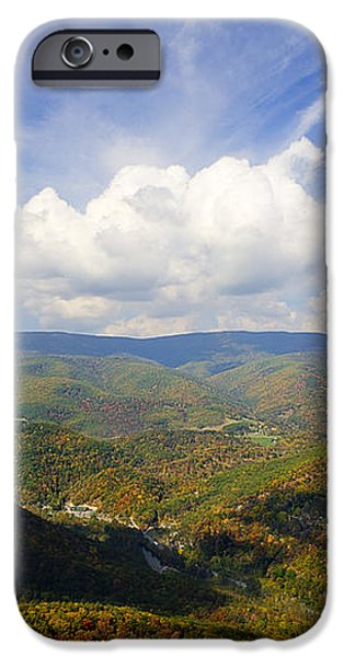 Fall scene from North Fork Mountain iPhone Case by Dan Friend