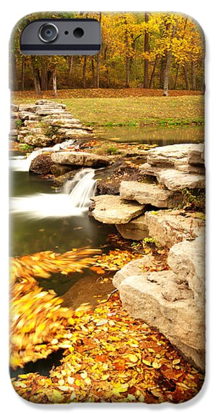 Autumn iPhone Cases - Fall Serenity iPhone Case by Gregory Ballos
