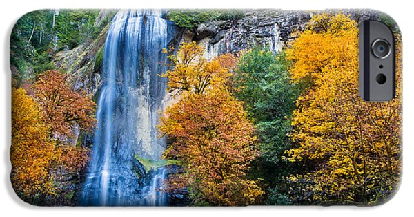 Coos iPhone Cases - Fall Silver Falls iPhone Case by Robert Bynum