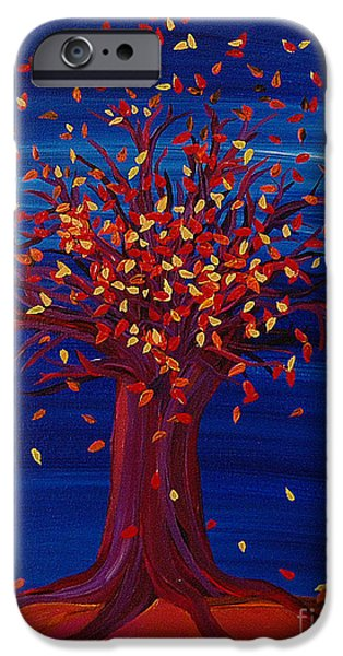 Jrr iPhone Cases - Fall Tree Fantasy by jrr iPhone Case by First Star Art