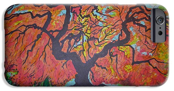 Google Mixed Media iPhone Cases - Fall Tree iPhone Case by Mike Dendinger