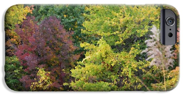 Fall iPhone Cases - Fall view of the Hudson Valley 3 iPhone Case by Lanjee Chee