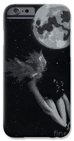 Night Angel iPhone Cases - Fallen angel iPhone Case by Tim Kravel