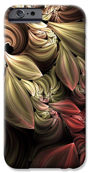 Asymmetrical iPhone Cases - Fallen From Grace Abstract iPhone Case by Georgiana Romanovna