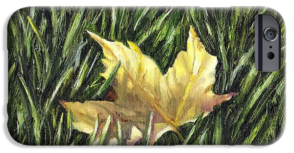 Windblown Paintings iPhone Cases - Fallen from Grace iPhone Case by Shana Rowe