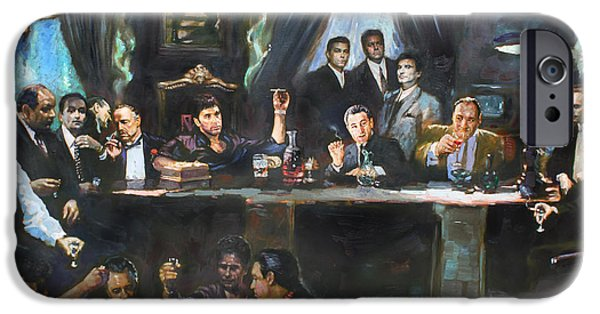 Rays Paintings iPhone Cases - Fallen Last Supper Bad Guys iPhone Case by Ylli Haruni