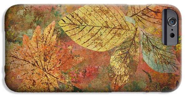 Fall iPhone Cases - Fallen Leaves II iPhone Case by Ellen Levinson