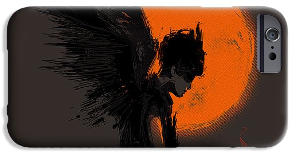 Surrealism Digital Art iPhone Cases - Fallen one iPhone Case by Budi Satria Kwan