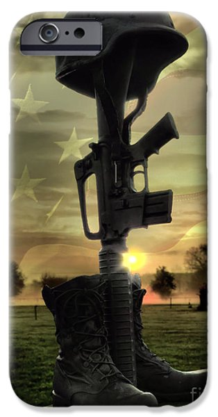 4th July iPhone Cases - Fallen Soldiers Memorial iPhone Case by September  Stone