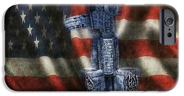 Patriots iPhone Cases - Fallen Soldiers Memorial iPhone Case by Peggy  Franz
