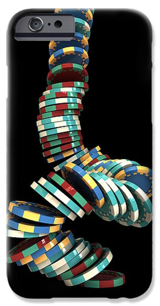 Chance iPhone Cases - Falling Casino iPhone Case by Allan Swart