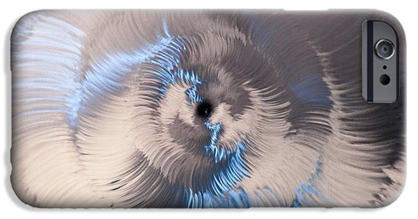 Stainless Steel Sculptures iPhone Cases - Falling In iPhone Case by Rick Roth