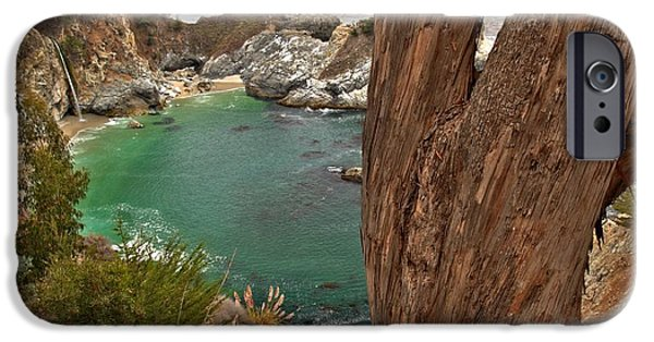 Big Sur Ca iPhone Cases - Falling Into The Bay iPhone Case by Adam Jewell