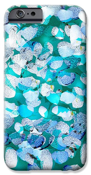 Petals Pastels iPhone Cases - Falling petals iPhone Case by Jeanette Byrd