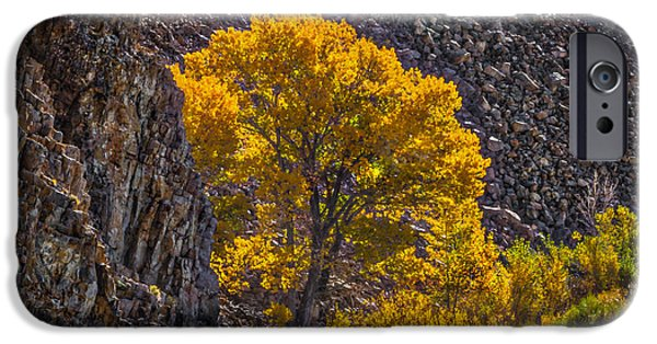 West Fork iPhone Cases - Falling Rocks iPhone Case by Mitch Shindelbower