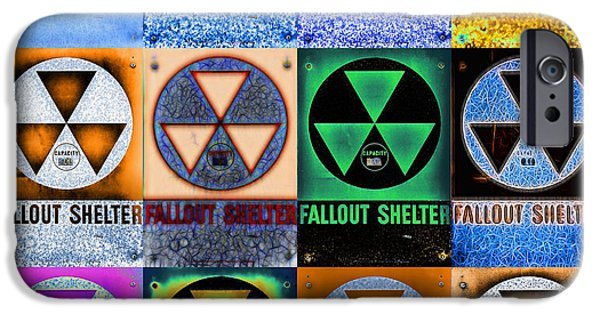 War iPhone Cases - Fallout Shelter Mosaic iPhone Case by Stephen Stookey