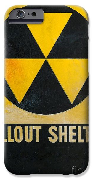War iPhone Cases - Fallout Shelter iPhone Case by Olivier Le Queinec